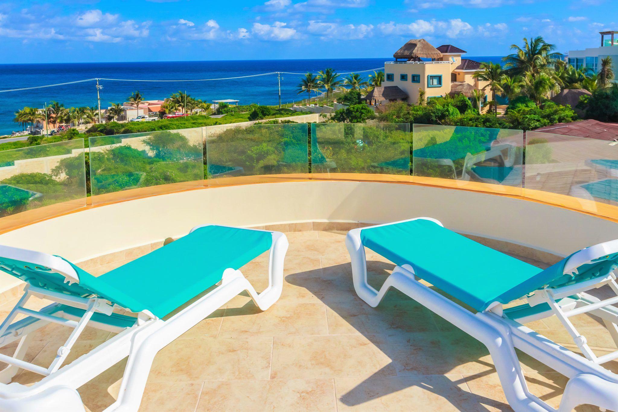 Isla Mujeres Vacation Rental Casa Elegante Roof Ocean View