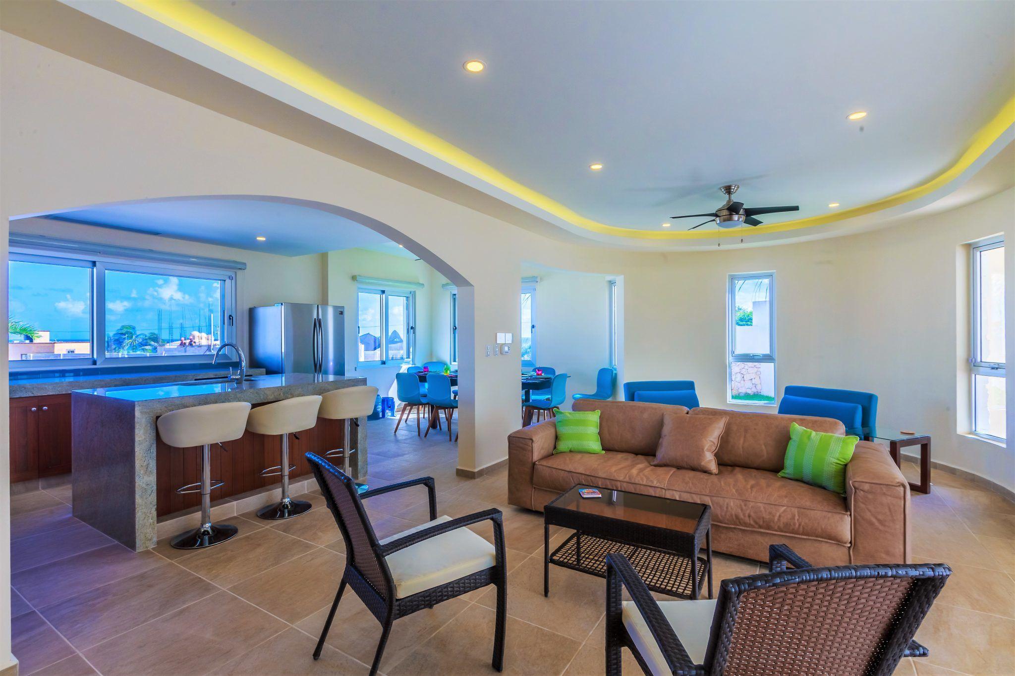 Isla Mujeres Luxury Vacation Rental Open Concept Casa Elegante
